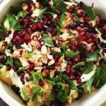 Cauliflower Salad with Yogurt and Pomegranate