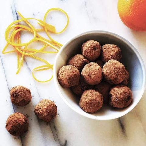 Deliciously Healthy Orange Chocolate truffles – Nut-free