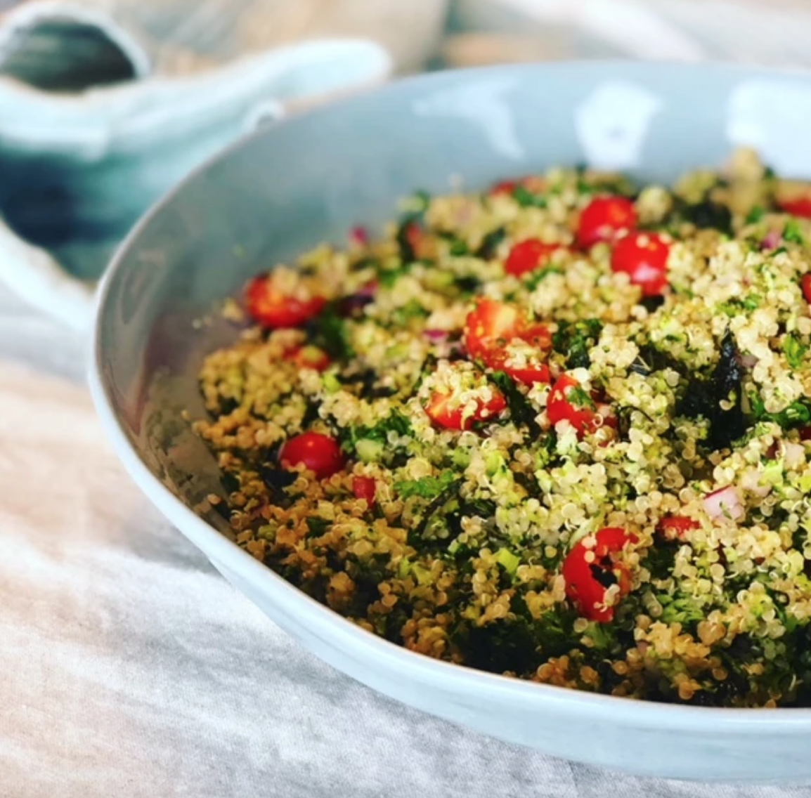 Gluten Free Broccoli and Quinoa Tabbouleh