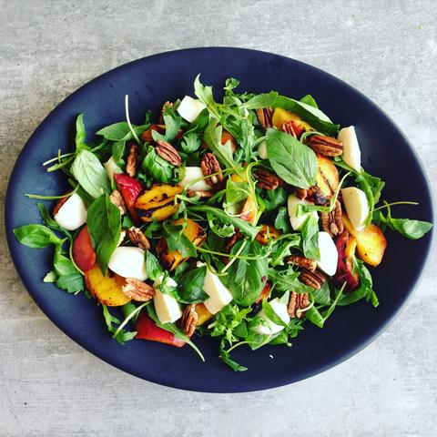 Grilled Peach Summer Salad