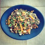 Spicy Lentil Salad with Maple Walnuts