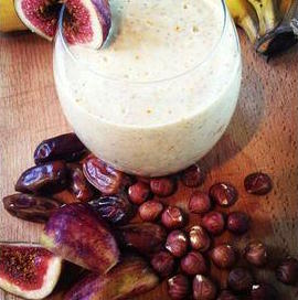 Middle Eastern Fresh Fig and Hazelnut Smoothie