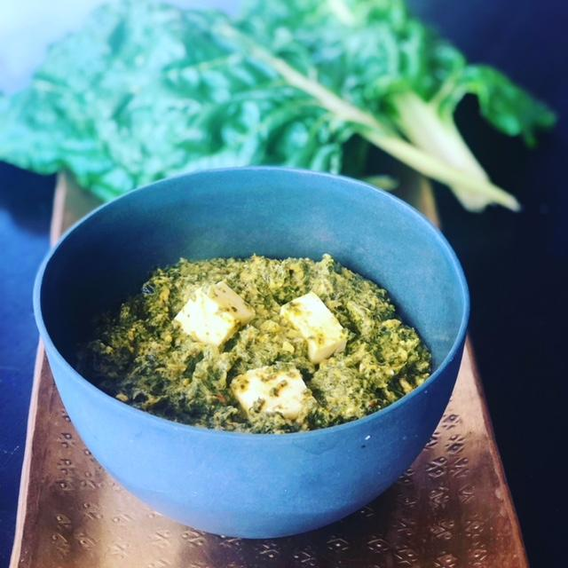 Palak Paneer with Cauliflower Rice