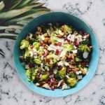 Roasted Broccoli, Almond and Coconut Salad