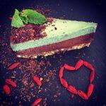 Raw Vegan Chocolate Mint Cheesecake