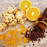 Gluten Free Orange Sesame and Cacao Nib Biscuits