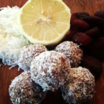 Apricot Coconut and Lemon Raw Balls