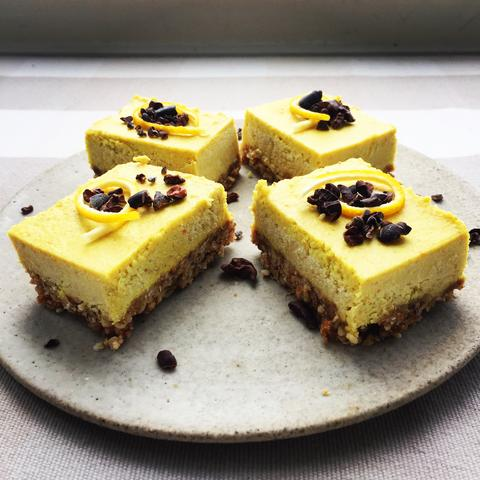 Raw Vegan Lemon Cheesecake Slice